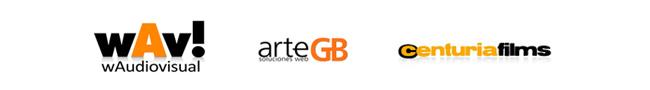 Logotipos ArteGB, Centuria Films y wAudiovisual