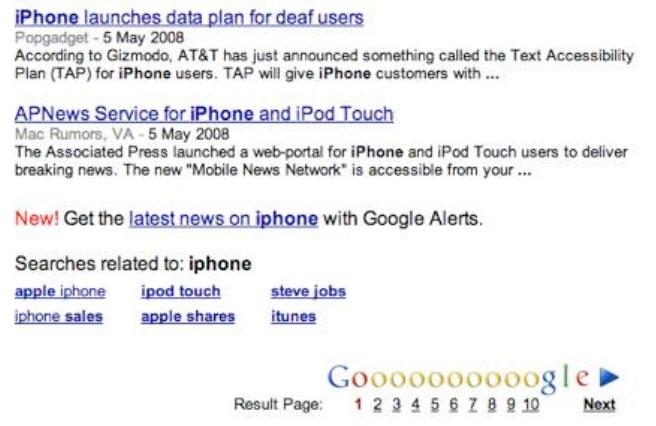 Búsquedas Relacionadas de Google